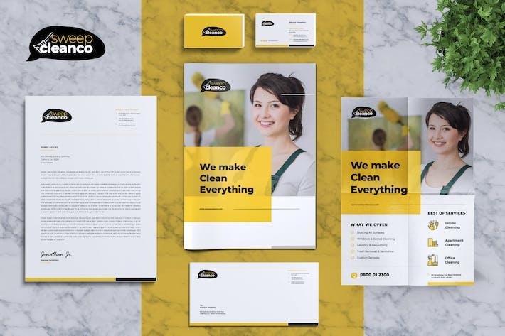 Thumbnail for CleanCo | Service de nettoyage Identité Entreprise