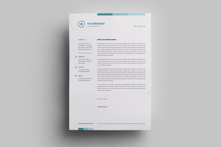 Thumbnail for Letterhead Design Templates.17