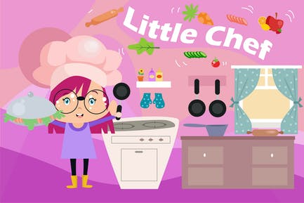 Little Chef - Vector Kids Illustration   Vol.3