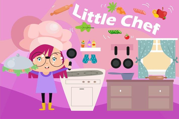 Thumbnail for Little Chef - Vector Kids Illustration | Vol.3