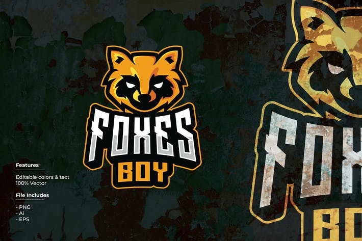 Thumbnail for Foxes Boy Sport and Esport Logo Template