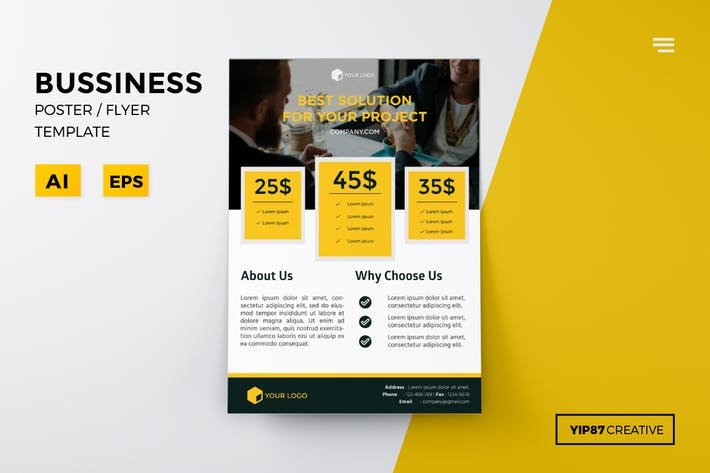 thumbnail for business pricing flyer - Brochure Templates Envato