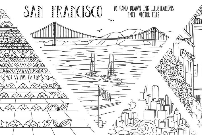 Thumbnail for San Francisco - Hand Drawn Illustrations