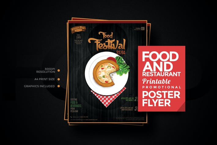 Thumbnail for Food and Restaurant Poster