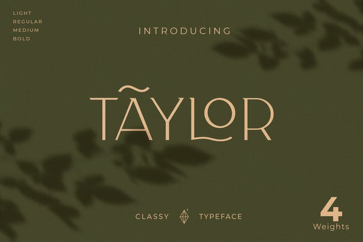 Thumbnail for Taylor - Royal Classic Typeface