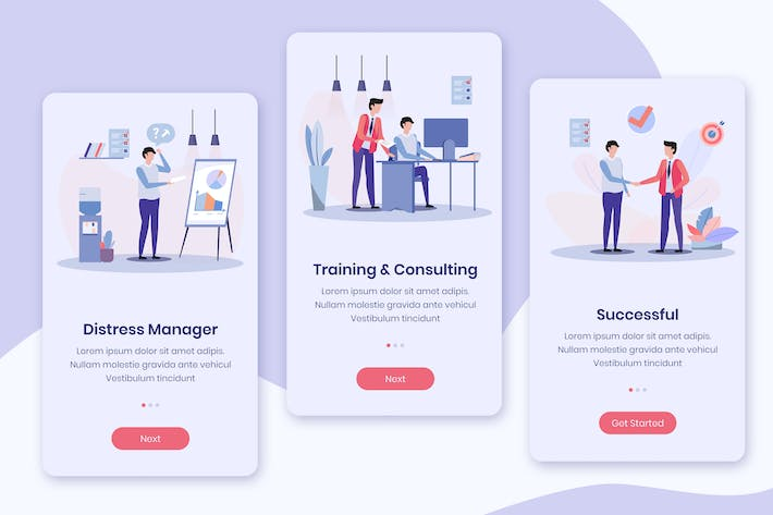 Thumbnail for Business Service Onboarding App Screens