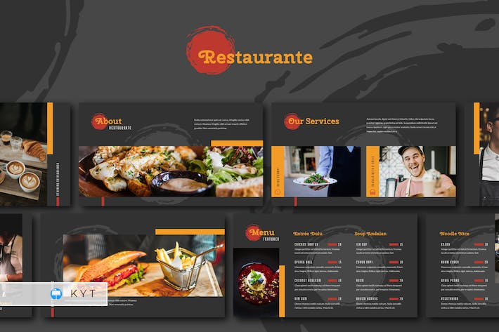 Thumbnail for RESTAURANTE - Food and Beverages Keynote Template