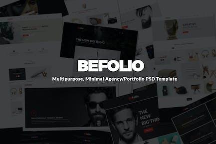 Befolio Minimal Agency/Portfolio Template