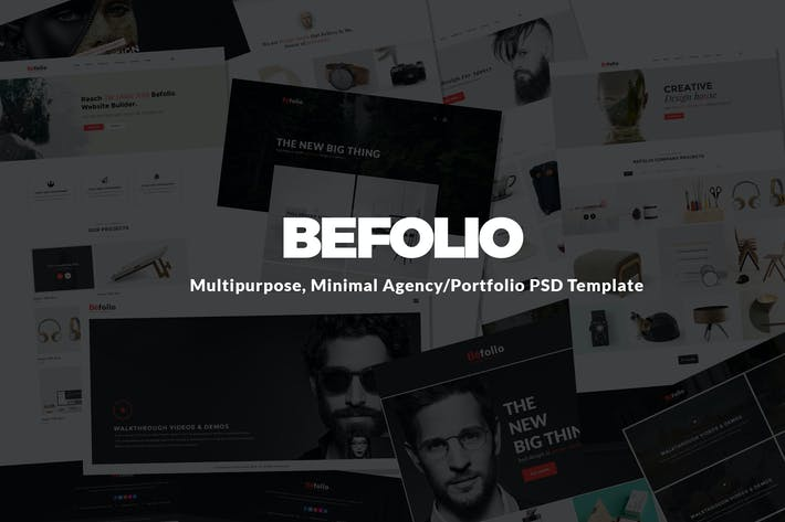 Thumbnail for Befolio Minimal Agency/Portfolio Template