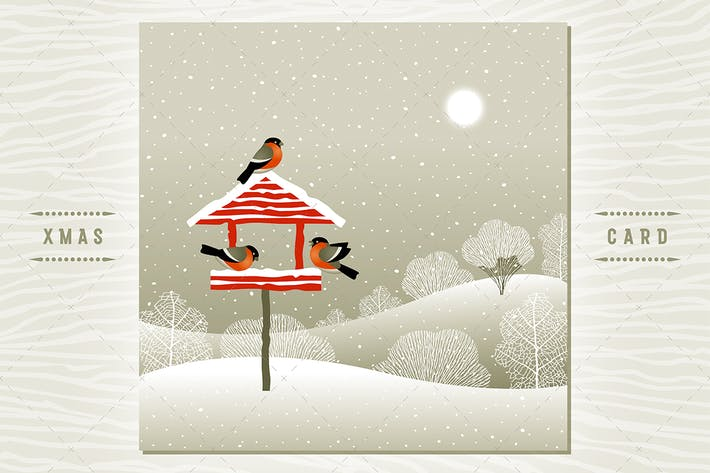 Birdfeeder In Winter Forest