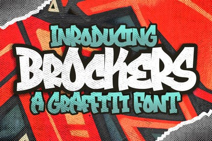 Brockers Urban Graffiti Art Business Font
