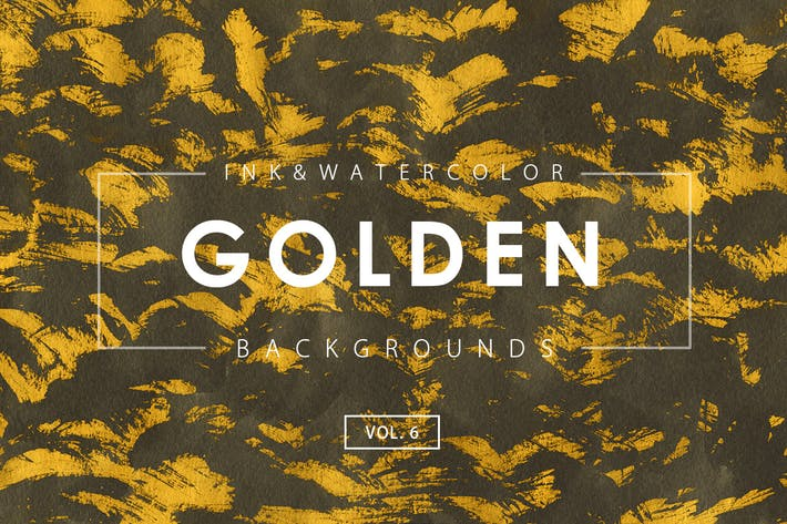 Cover Image For Golden Ink Backgrounds 6