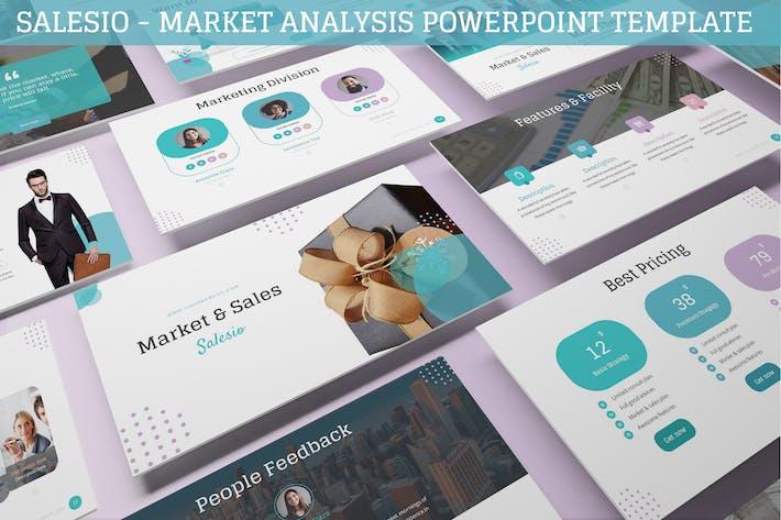 Thumbnail for Salesio - Market Analysis Powerpoint Template