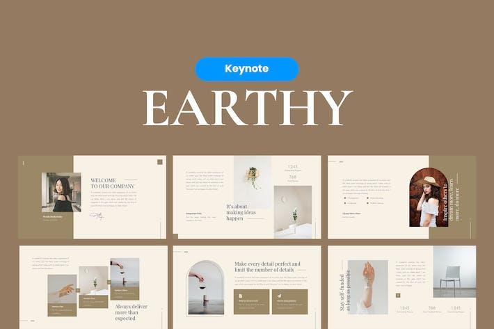 Земляной элегантный шаблон Keynote