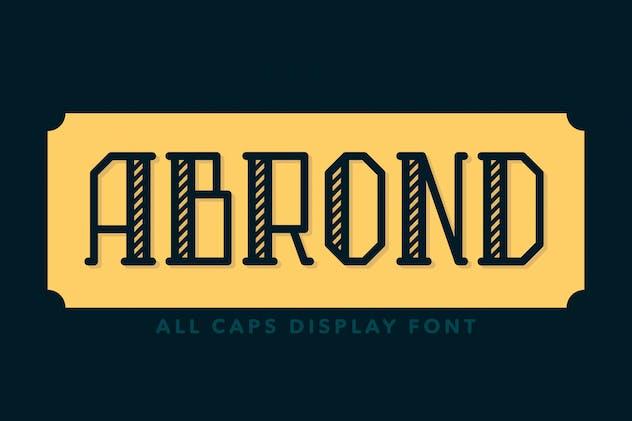 Abrond Typeface