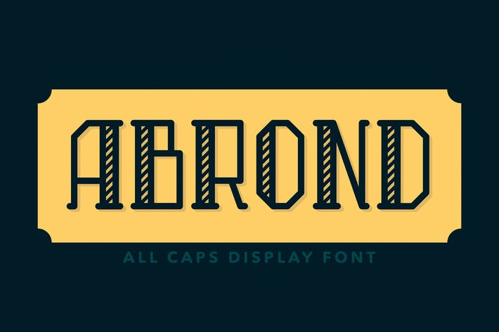 Abrond Typeface