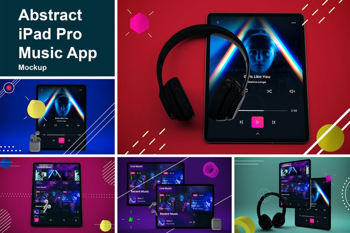 Abstrakte iPad Pro MusikApp