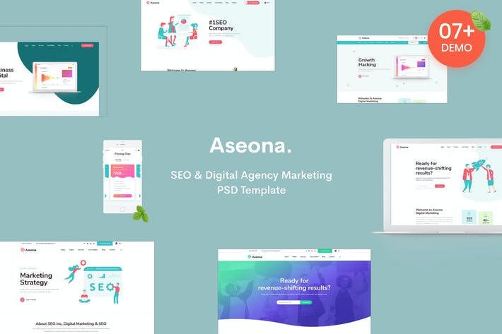 Thumbnail for Aseona | SEO Digital Marketing Vorlage PSD