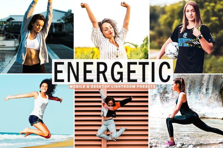 Thumbnail for Energetic Mobile & Desktop Lightroom Presets