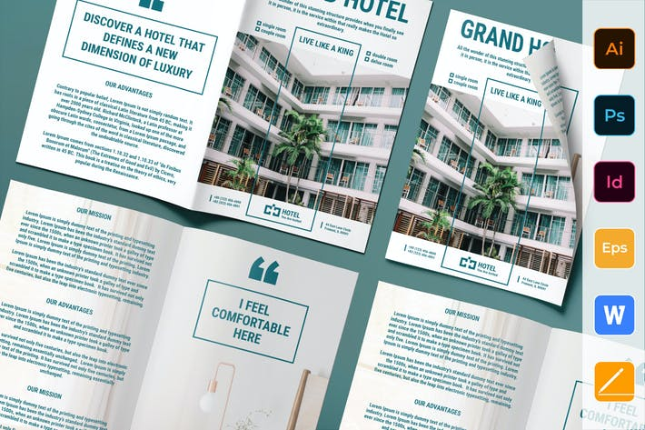Thumbnail for Hotel Brochure Bifold