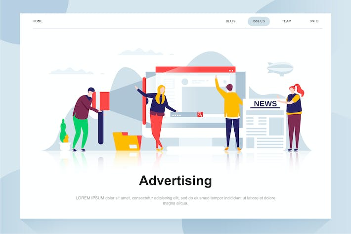 Thumbnail for Advertising and Promotion Flat Concept