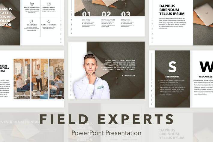 Thumbnail for Field Experts PowerPoint Template