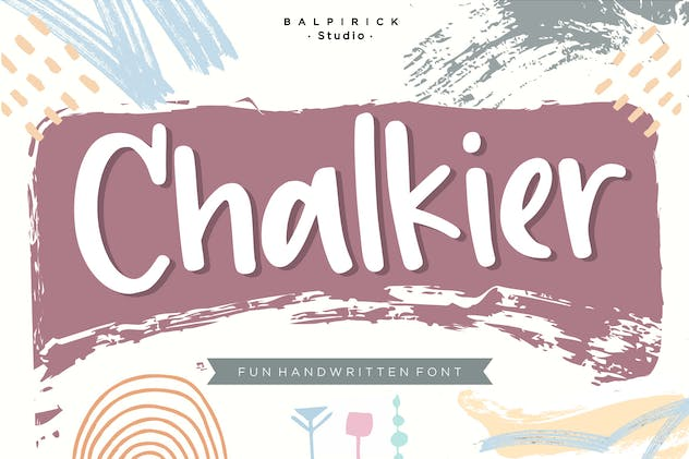 Chalkier YH - Brush & Display Font - product preview 0