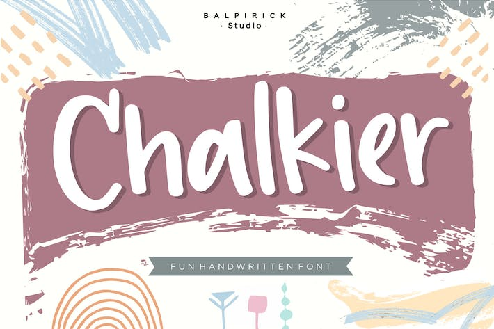 Thumbnail for Chalkier YH - Pincel & Display Font