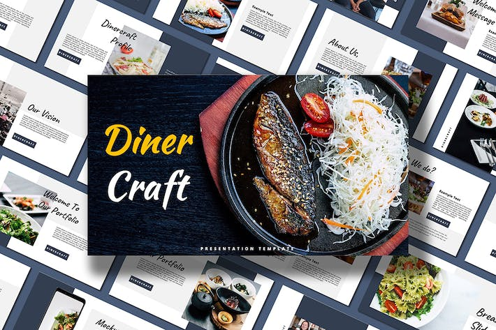 Thumbnail for Diner Craft - Google Slides Template