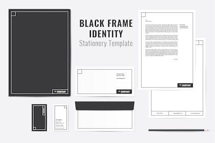 Black Frame Identity Templates