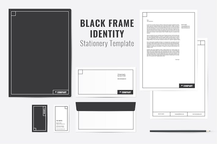Cover Image For Black Frame Identity Templates