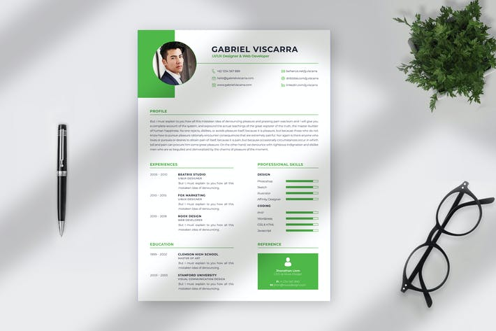 Thumbnail for Professional CV Resume Template