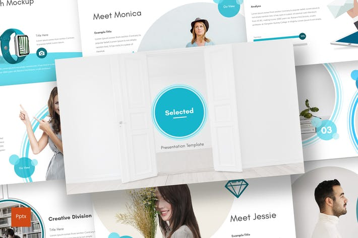 Cover Image For Selected - Powerpoint Template