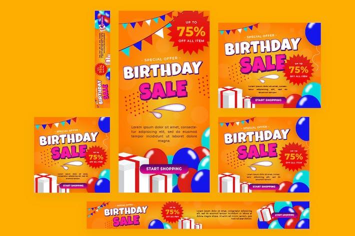 Thumbnail for Birthday Sale -  Web Banner
