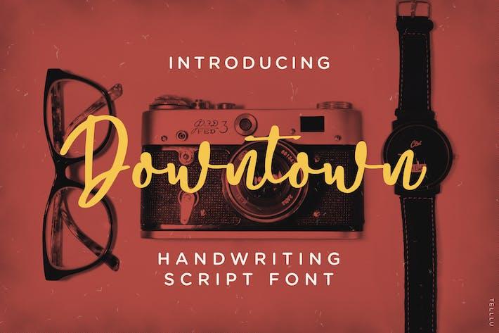 Thumbnail for Centre-ville - Police de script d'écriture manuscrite