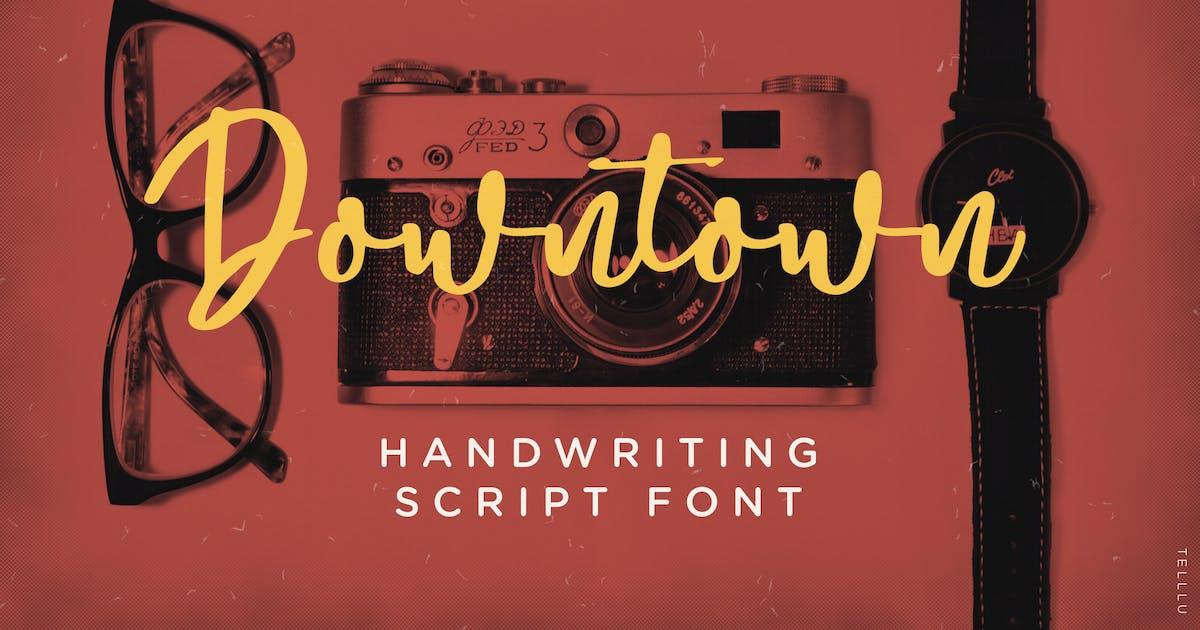 Download Downtown - Handwriting Script Font by telllu