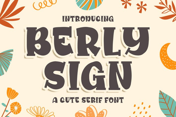 Thumbnail for Berly Sign - a Cute Serif Font