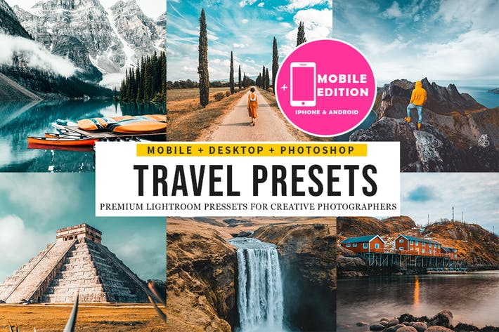 Thumbnail for Travel insta Lightroom Presets Mobile & Desktop
