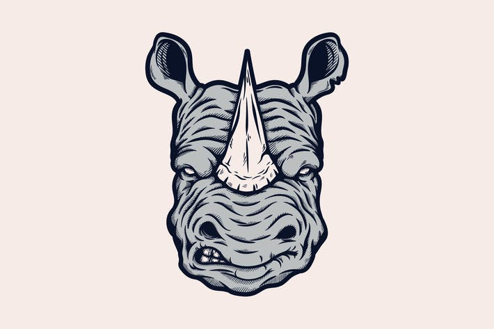 Mad Rhino Head