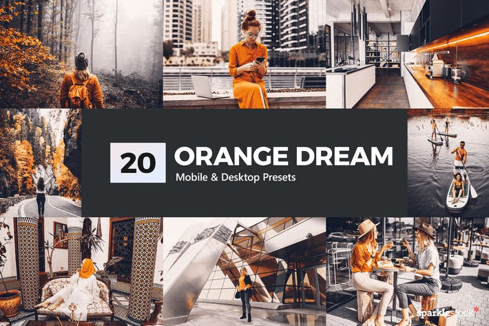 Thumbnail for Orange Dream Ajustes preestablecidos de Lightroom & LUTs