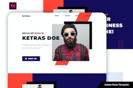 Ketras - Personal Portfolio Template for Adobe XD