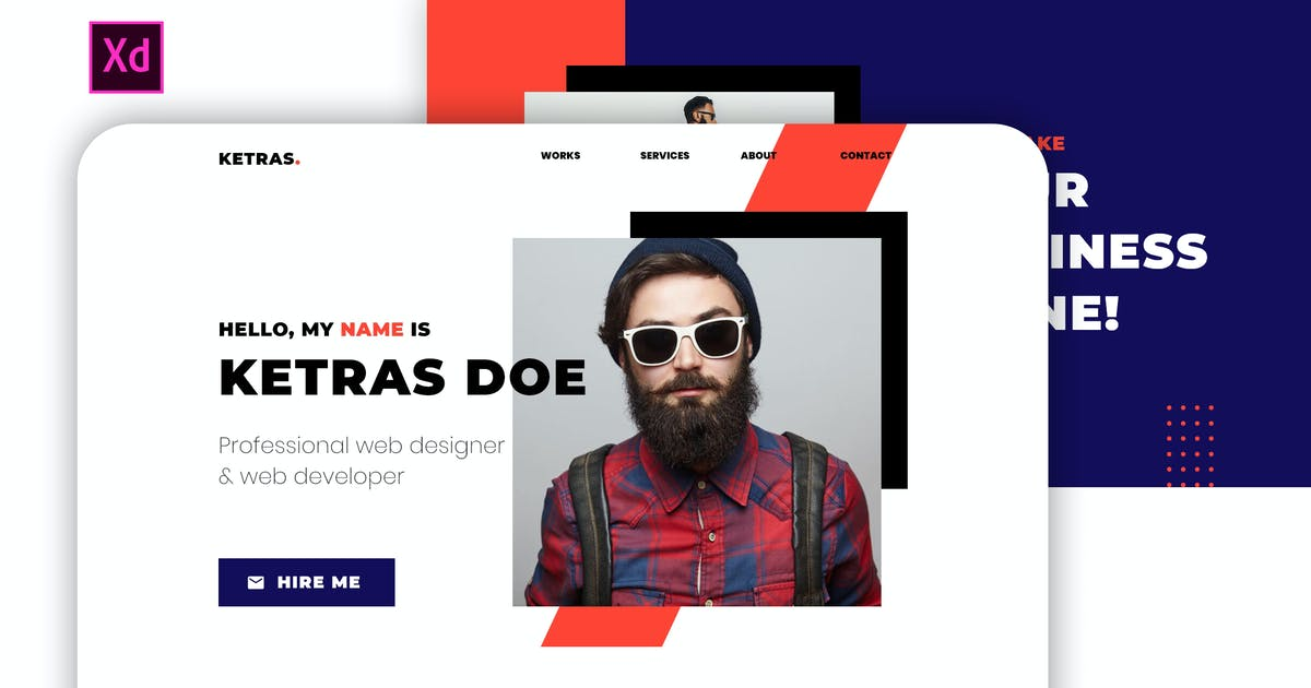 Download Ketras - Personal Portfolio Template for Adobe XD by MaximusTheme