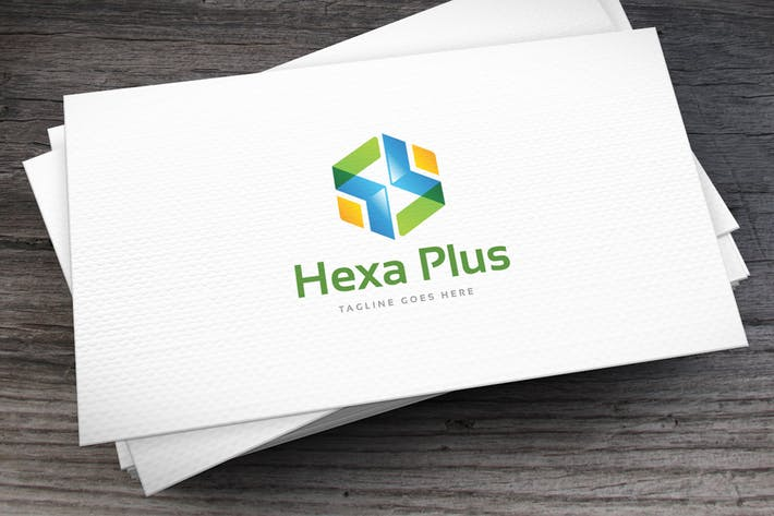 Cover Image For Hexa Plus Logo Template