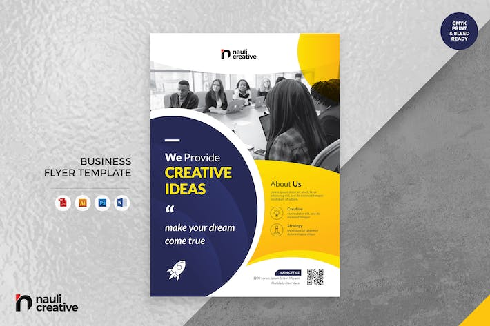 Thumbnail for Corporate Business Flyer AI, DOC, & PSD Vol.23