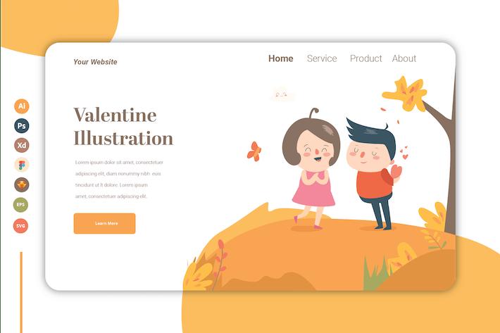 Valentine vol.2 - Landing Page Template