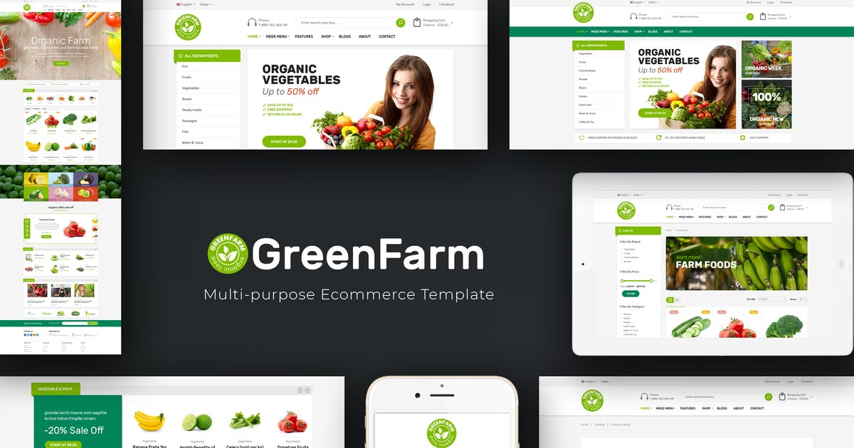 Download Greenfarm - Organic WooCommerce WordPress Theme by roadthemes