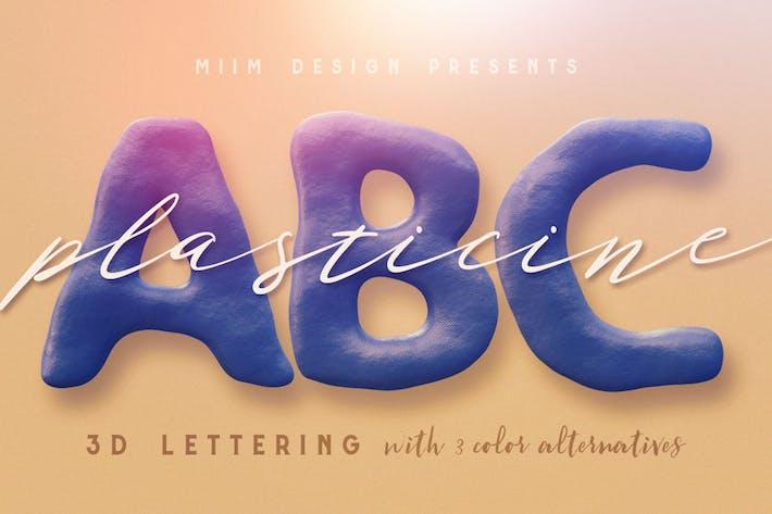 Thumbnail for Plasticine – 3D Lettering