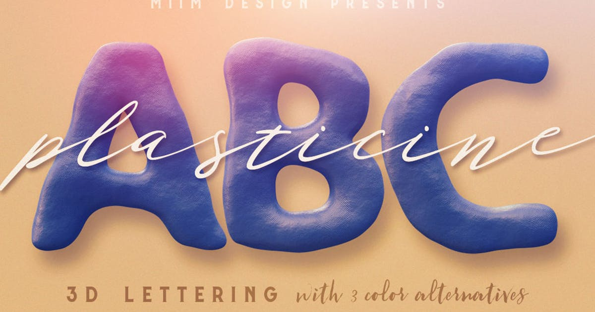 Download Plasticine – 3D Lettering by cruzine