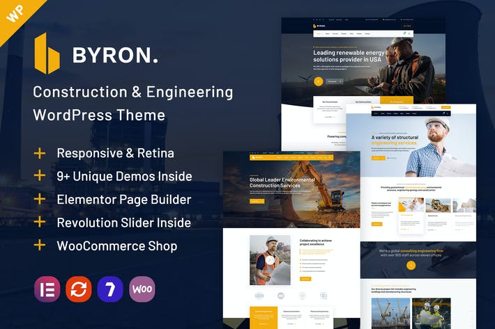 Thumbnail for Byron | Construction and Engineering WP Theme