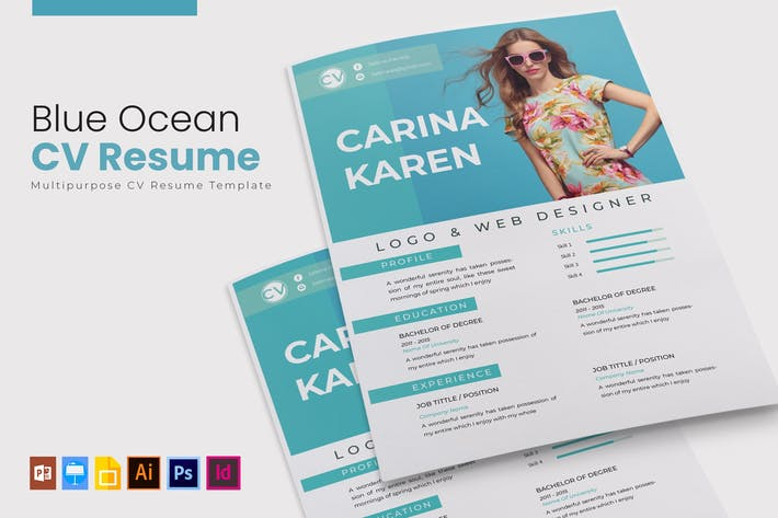 Thumbnail for Blue Ocean | CV Resume